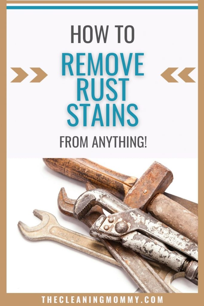 how to remove rust stains